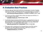 h evaluation best practices