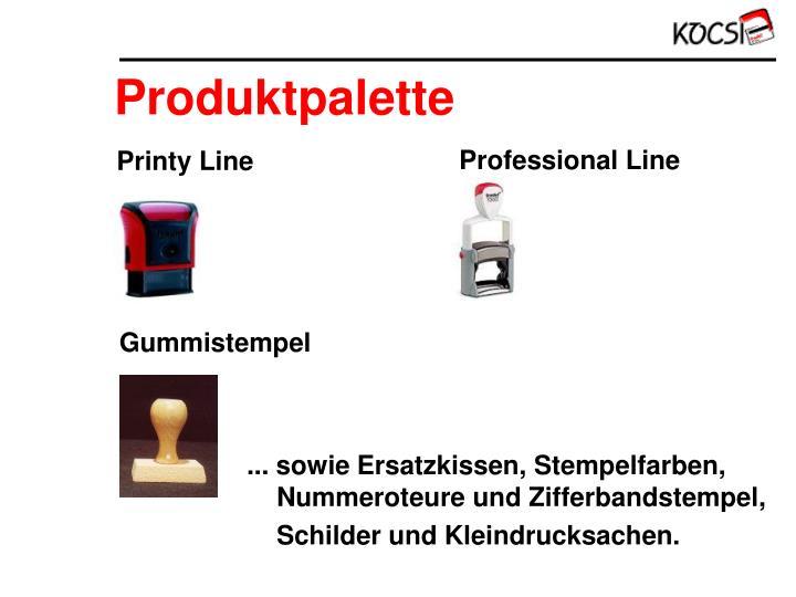 Produktpalette