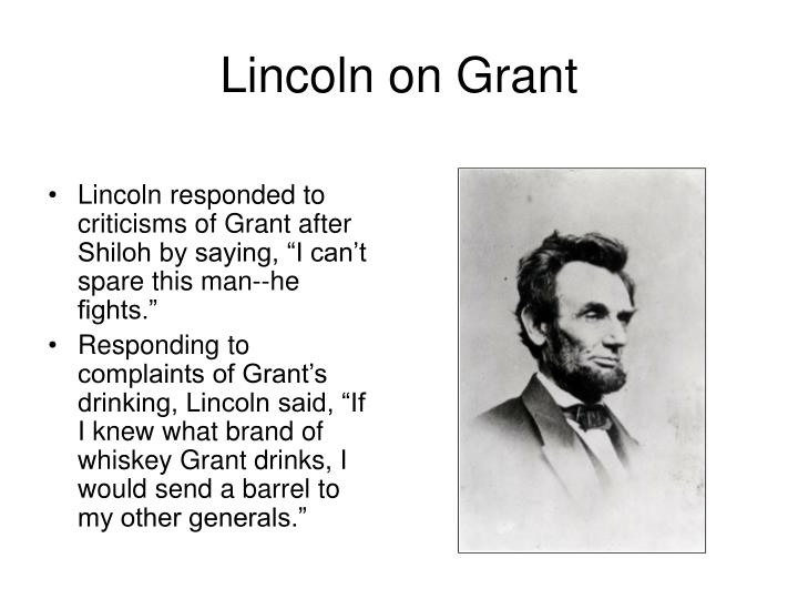 Lincoln on Grant