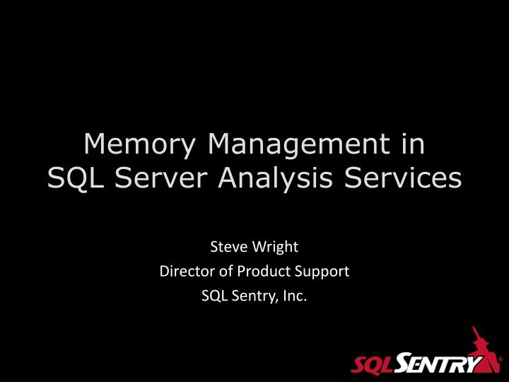 Memory management in sql server analysis services