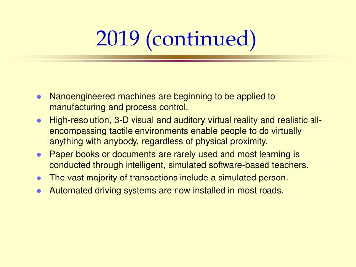 2019 (continued)