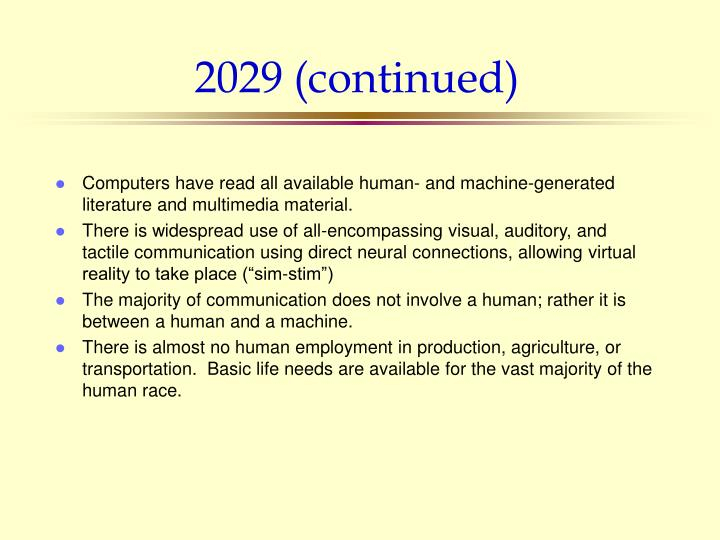 2029 (continued)