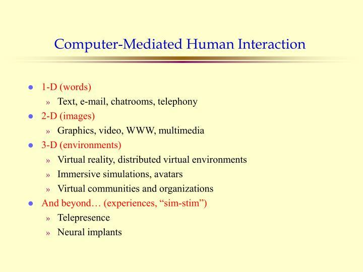 Computer-Mediated Human Interaction