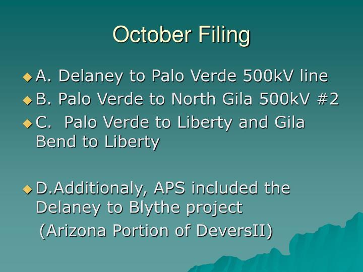 October Filing