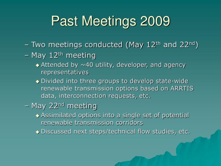 Past meetings 2009