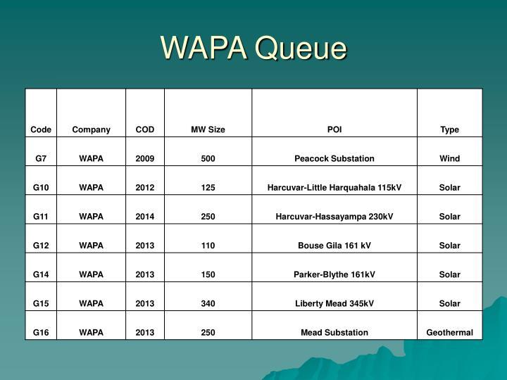 WAPA Queue