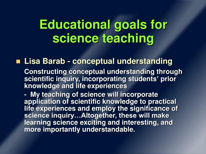 Educational goals for science teaching
