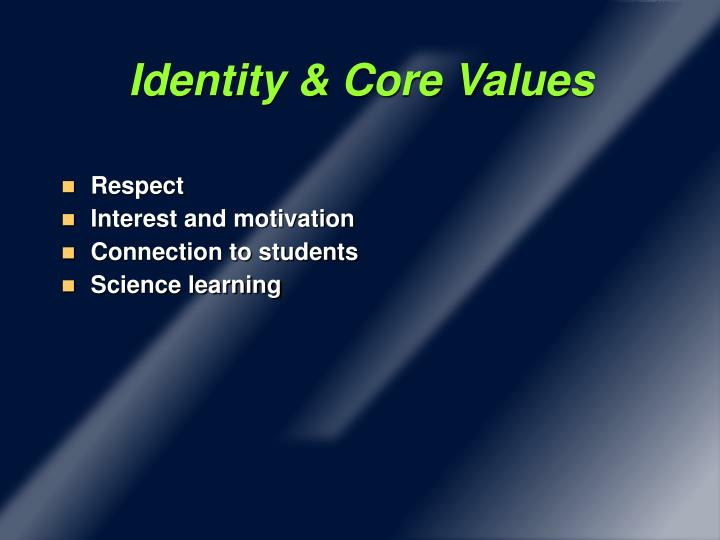 Identity & Core Values