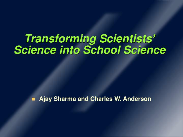 Transforming Scientists
