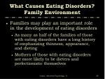 what causes eating disorders family environment