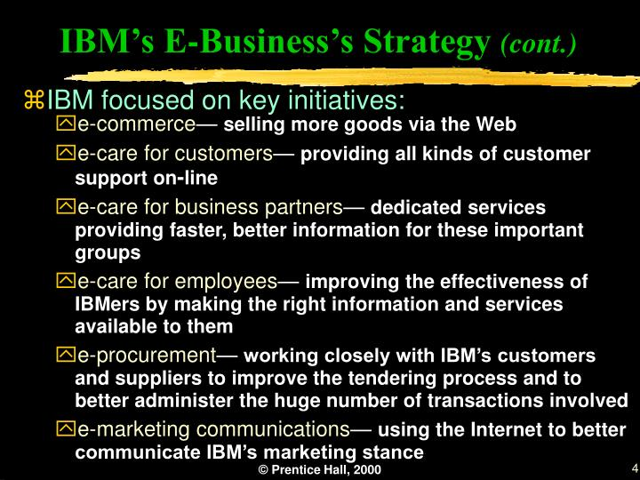IBM's E-Business's Strategy