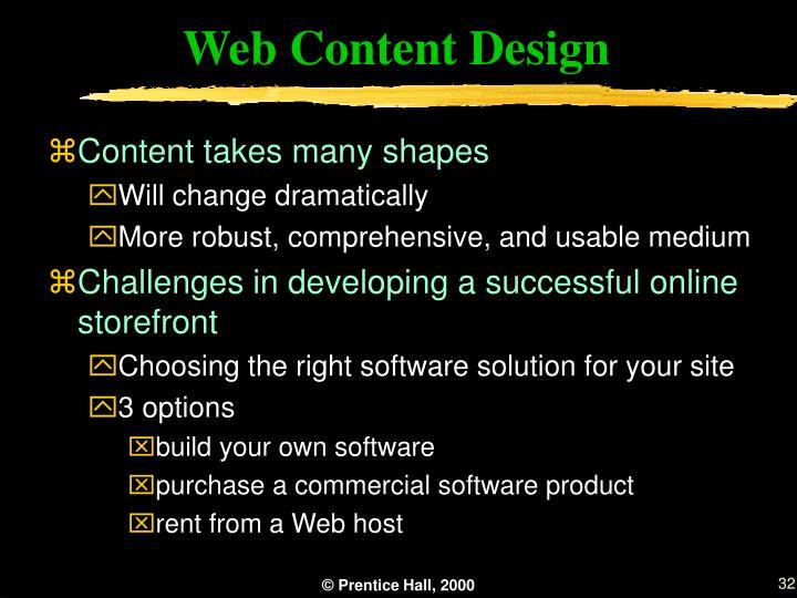 Web Content Design