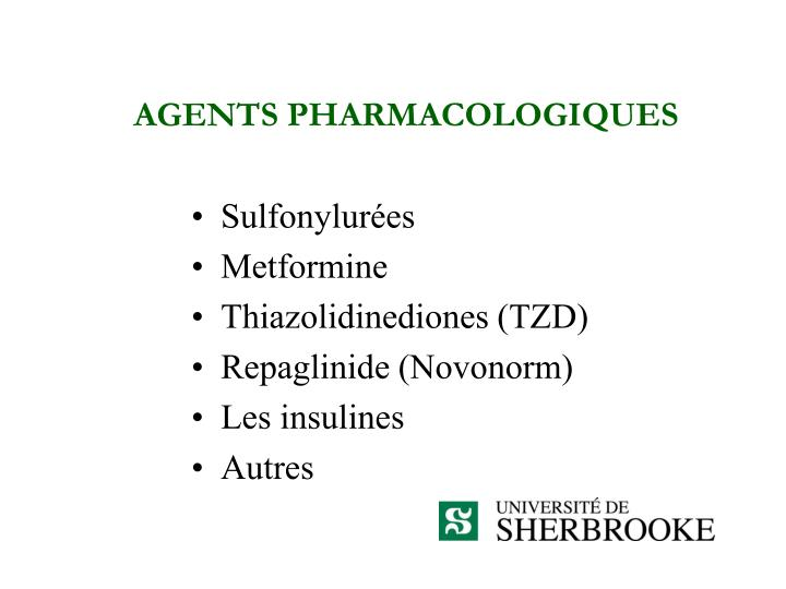 AGENTS PHARMACOLOGIQUES