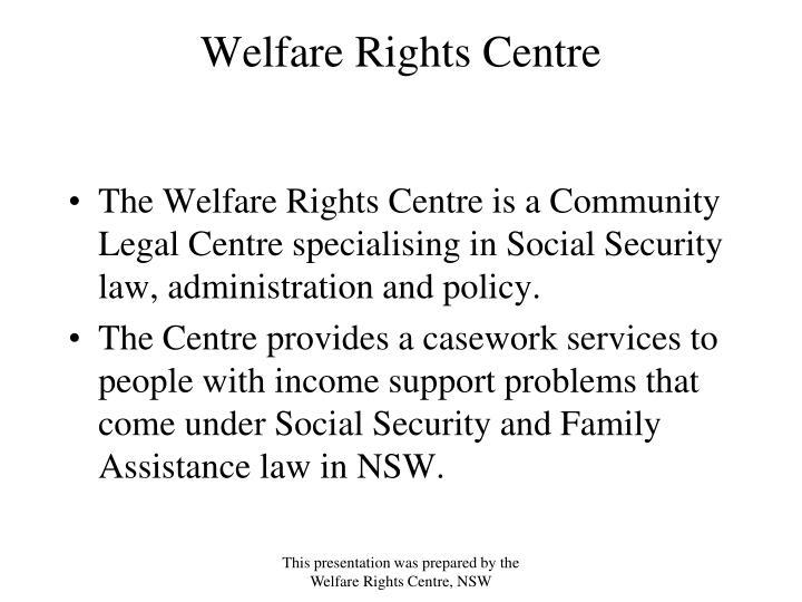 Welfare rights centre