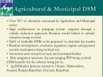 agricultural municipal dsm
