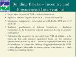 building blocks incentive and procurement interventions