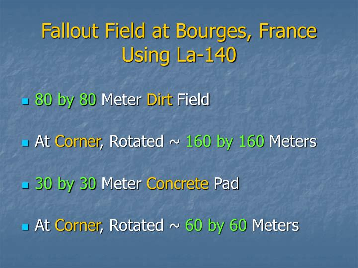 Fallout Field at Bourges, France