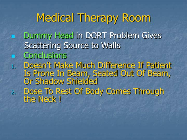 Medical Therapy Room