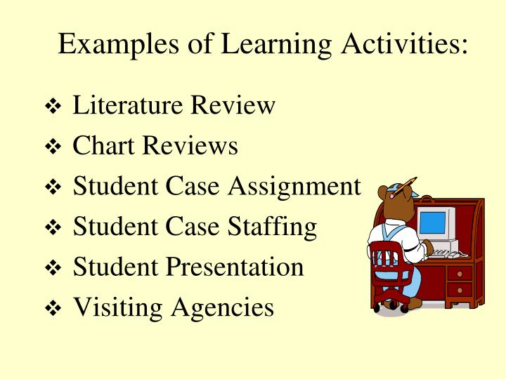 Examples of Learning