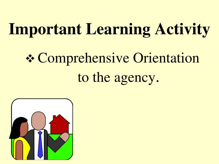 Important Learning Activity