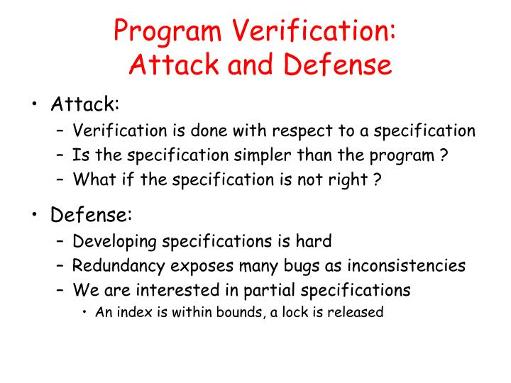 Program Verification: