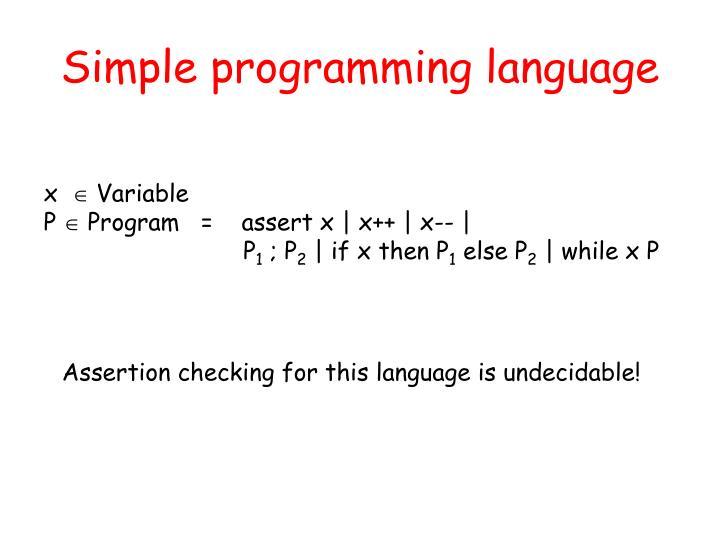 Simple programming language