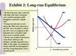exhibit 2 long run equilibrium