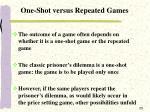 one shot versus repeated games