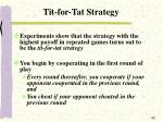 tit for tat strategy
