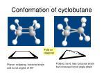 conformation of cyclobutane