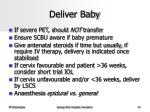 deliver baby
