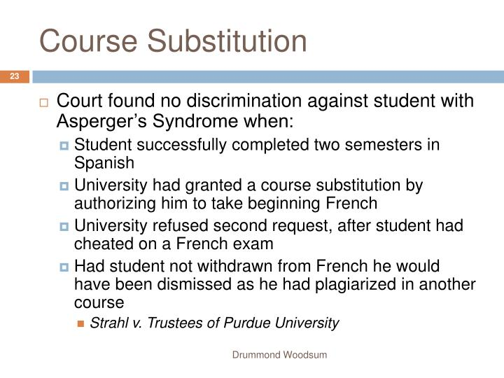 Course Substitution