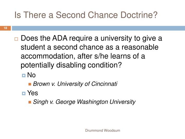 Is There a Second Chance Doctrine?
