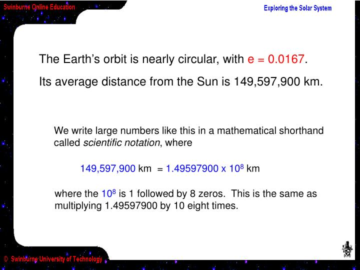 The Earth's orbit is nearly circular, with