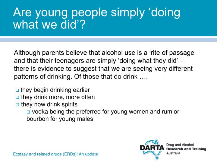 Are young people simply 'doing what we did'?