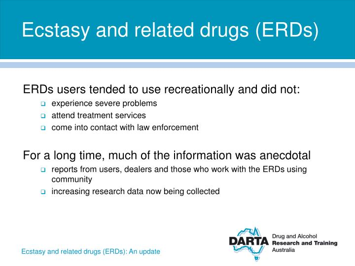 Ecstasy and related drugs erds1