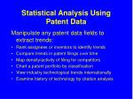 statistical analysis using patent data