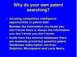 why do your own patent searching