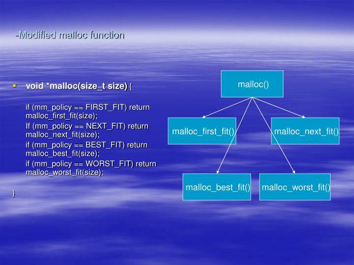 -Modified malloc function