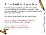 evaluation of problem