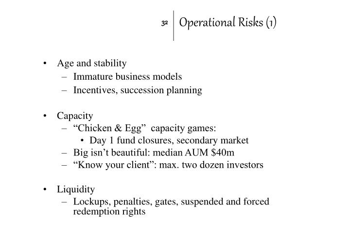 Operational Risks (1)