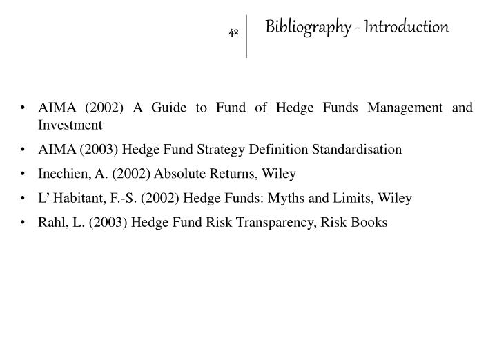 Bibliography - Introduction