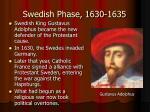 swedish phase 1630 1635