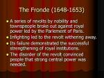 the fronde 1648 1653