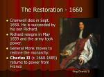 the restoration 1660