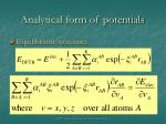 analytical form of potentials2