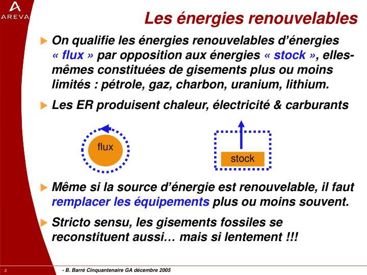 Les nergies renouvelables