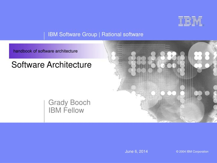 software architecture n.