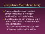 competence motivation theory3