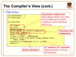 the compiler s view cont